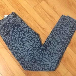 Zara trafaluc jeggings blue and light blue
